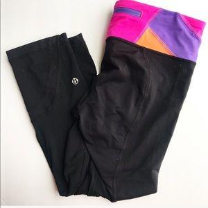 LuluLemon black crop leggings size 8